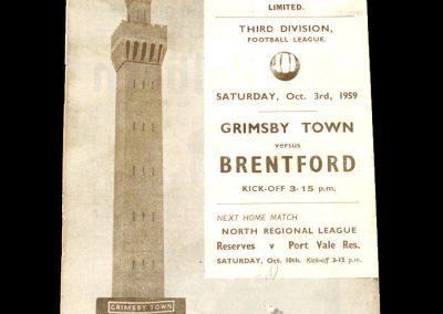 Grimsby v Brentford 03.10.1959