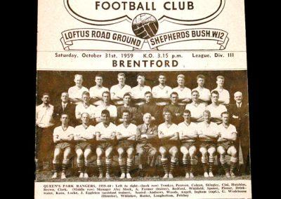QPR v Brentford 31.10.1959