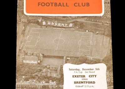 Exeter v Brentford 05.12.1959 - FA Cup 2nd Round
