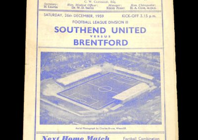 Southend v Brentford 26.12.1959