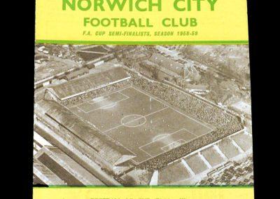 Norwich v Brentford 13.02.1960