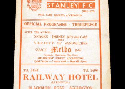 Accrington v Brentford 11.03.1960