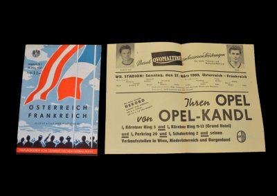 Austria v France 27.03.1960