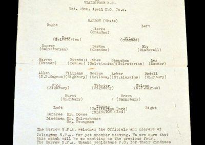 Harrow v Islington 28.04.1965 (Charlie George & Micky Droy)