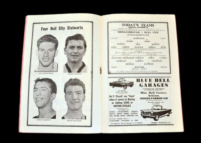 Middlesbrough v Hull 08.10.1962 - League Cup 1st Round Replay