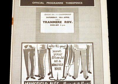 Mansfield v Tranmere 30.04.1960