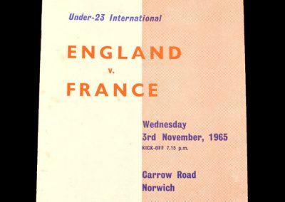 England v France 03.11.1965 (Under 23)