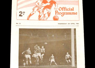Man Utd Youth v Man City Youth 08.04.1964 - FA Youth Cup Semi Final 1st Leg