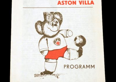 Dynamo Berlin v Aston Villa 21.10.1981 - 2nd Round 1st Leg (1-2)
