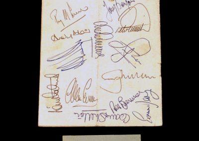 Dynamo Kiev v Aston Villa 03.03.1982 - Quarter Final 1st Leg (0-0) Ticket & Signatures