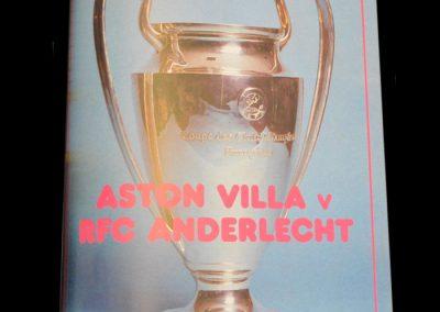 Aston Villa v Anderlecht 07.04.1982 - Semi Final 1st Leg (1-0)