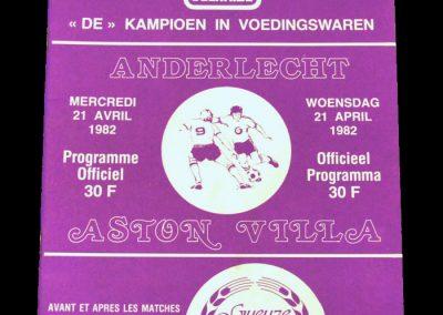Anderlecht v Aston Villa 21.04.1982 - Semi Final 2nd Leg (0-0)