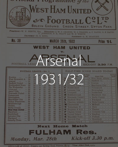 Arsenal 1931 1932