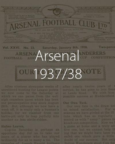Arsenal Season 1937 1938