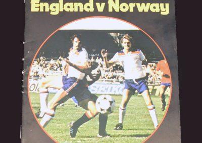 England v Norway 10.09.1980