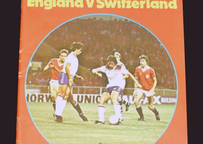 England v Switzerland 19.11.1980