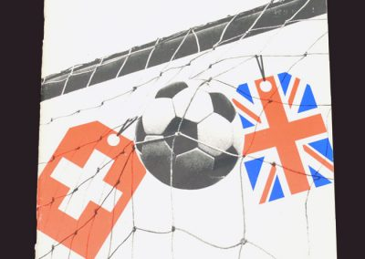 Switzerland v England 30.05.1981