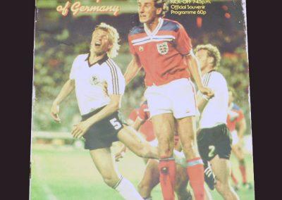 England v Germany 13.10.1982