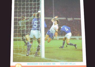 England v Finland 17.10.1984