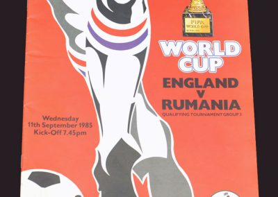 England v Romania 11.09.1985