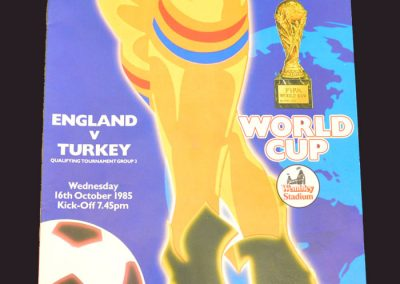 England v Turkey 16.10.1985