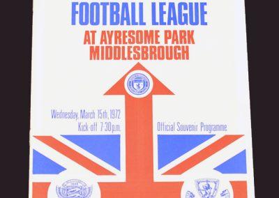English League v Scottish League 15.03.1972