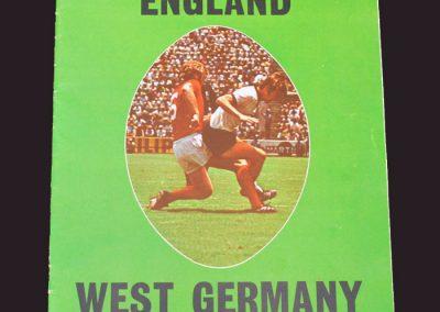 England v West Germany 29.04.1972