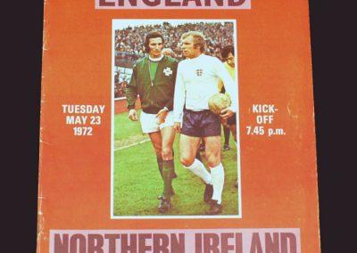 England v Northern Ireland 23.05.1972