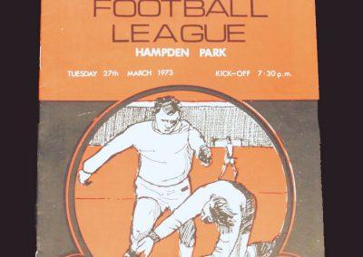 Scottish League v English League 27.03.1973
