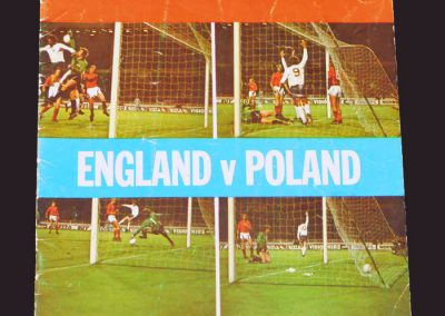 England v Poland 17.10.1973