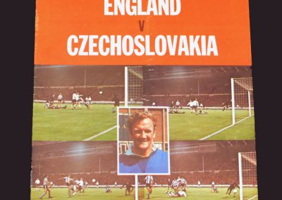 England v Czechoslovakia 30.10.1974
