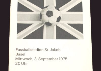 Switzerland v England 03.09.1975