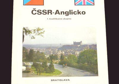 Czechoslovakia v England 19.10.1975