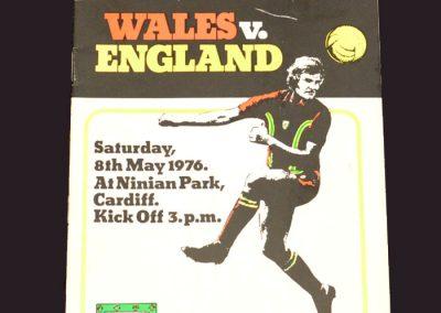Wales v England 08.05.1976