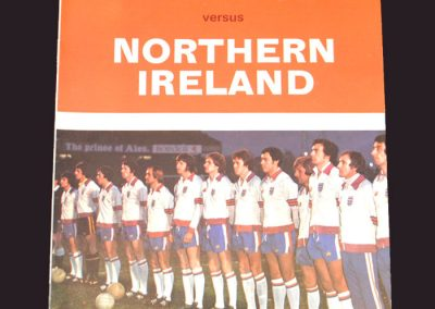 England v Northern Ireland 11.05.1976