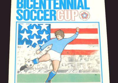 US Bicentennial Cup   England v Brazil 23.05.1976   England v Italy 28.05.1976