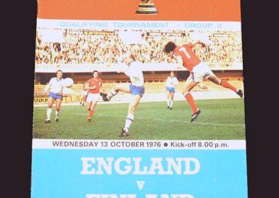 England v Finland 13.10.1976