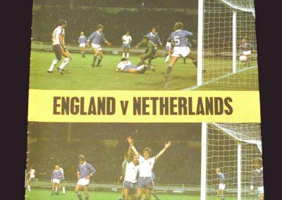 England v Netherland 09.02.1977