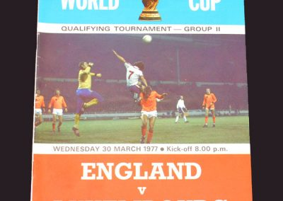 England v Luxembourg 30.03.1977