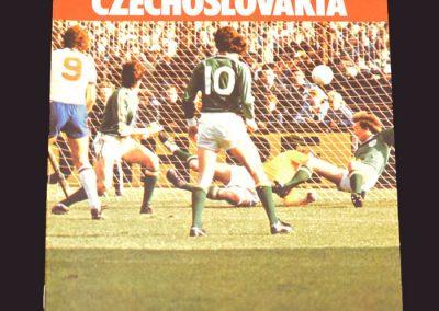 England v Czechoslovakia 29.11.1978