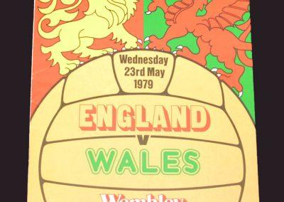 England v Wales 23.05.1979