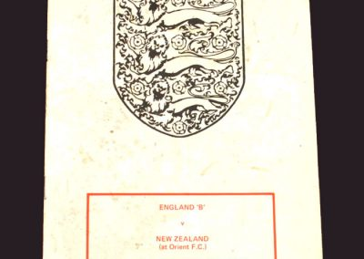 England B v New Zealand 15.10.1979