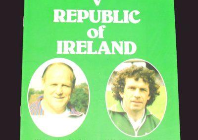 England v Republic of Ireland 06.02.1980