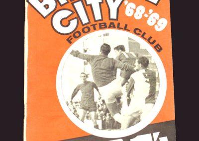 Bristol City v Middlesbrough 04.09.1968 - League Cup 1st Round