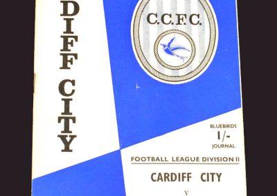 Cardiff v Middlesbrough 07.09.1968