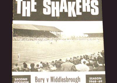 Bury v Middlesbrough 21.09.1968