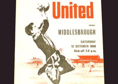 Sheff Utd v Middlesbrough 12.10.1968