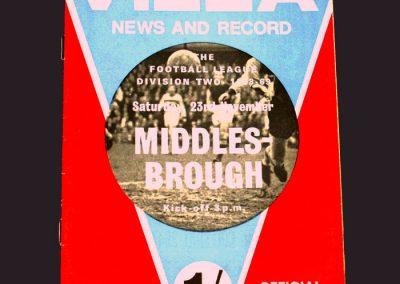 Aston Villa v Middlesbrough 23.11.1968