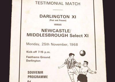 Darlington v Middlesbrough 25.11.1968 (Dickie Deacon testimonial)