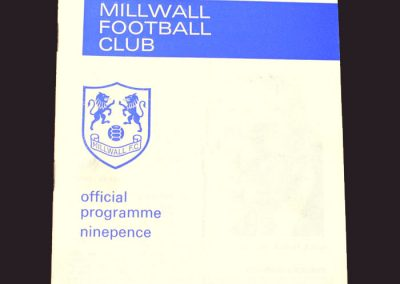 Millwall v Middlesbrough 06.01.1969 - FA Cup 2nd Round Replay